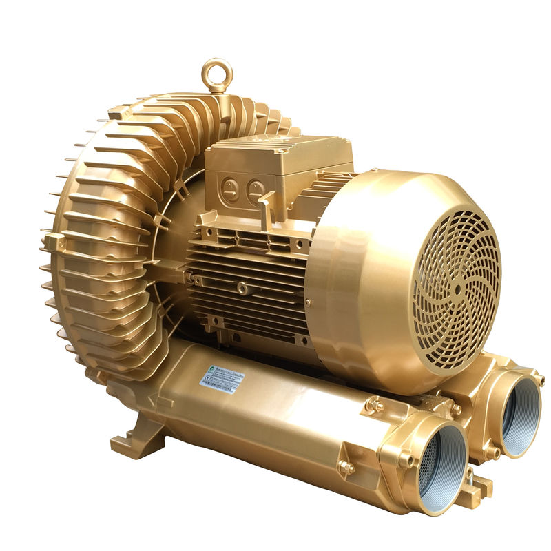 Pneumatic Conveying Regenerative Air Blower , Goorui Vacuum Pump Golden Color