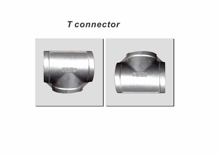 Stainless Steel Universal CE T Connector For Side Channel Vacuum Pump