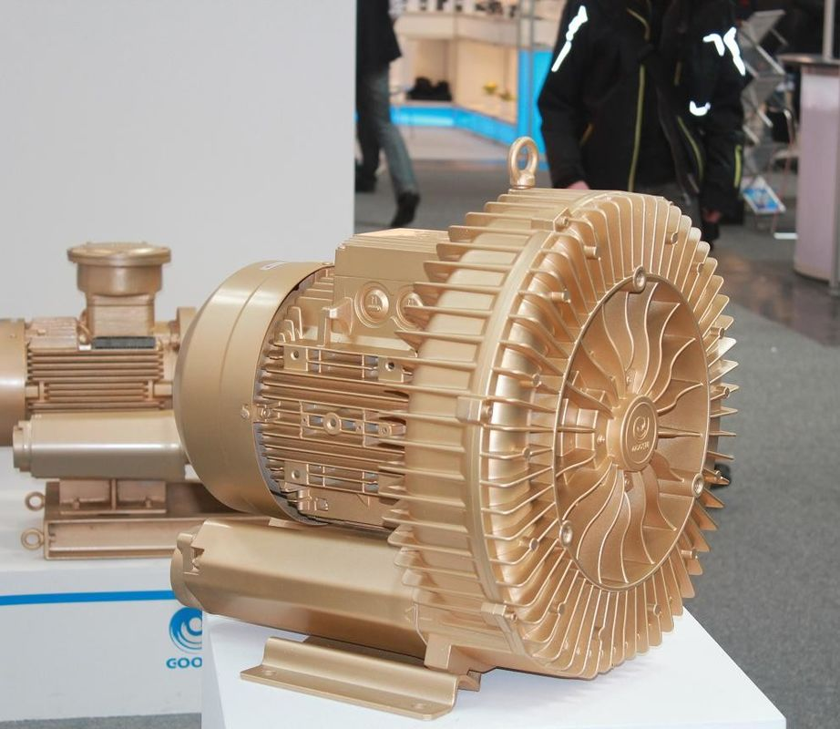 IE3 7.5kW Goorui Side Channel Blower , High Pressure Air Blower For CNC Routers