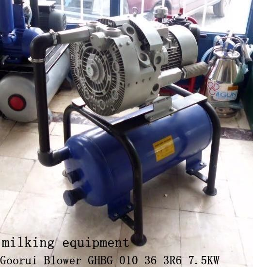 7.5kw Extra High Vacuum Air Pump For Milking Machine